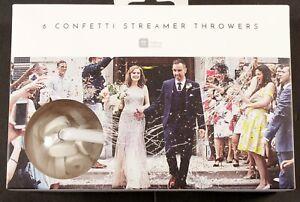 Wedding or Celebration White 'No Mess' Streamer Confetti Throwers Talking Tables