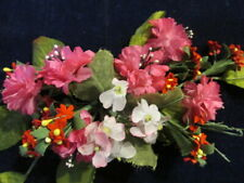"""Vintage Millinery Flower Collection Pink Red Ivory 3/8"""" -1"""" Doll Size H2886"""
