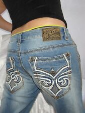 Men Authentic Affliction Cooper Straight Jeans Size 33 Distressed