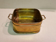 Tsummura International Claire Burke Brass Square Container with Handles India