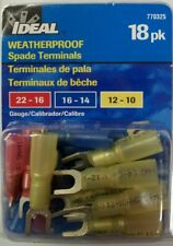 Ideal Industries Weatherproof Spade Terminals Multi-Pack 18 pk 770325- New!