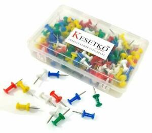 THUMB TACKS / THUMB PINS MULTICOLOR FOR OFFICE & HOME USE (200 COUNT IN ONE BOX)