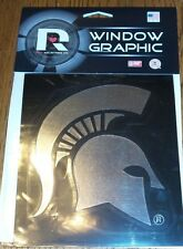 Michigan State Spartans Logo Window Graphic Decal NEW!! Chrome Sparty