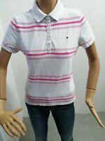 Polo TOMMY HILFIGER Donna Taglia Size L/G T-Shirt Woman Maglia Manica Corta 7993
