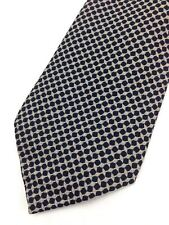 True Vintage Mens Necktie Kipper Wide Neck Tie Jacquard Abstract Geometry Black