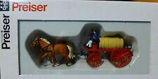 Preiser HO #30426 Emergency - Horse-Drawn Fire Equipment -- Water Wagon