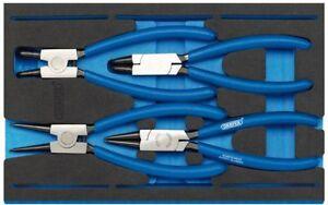 GENUINE DRAPER Circlip Plier Set in 1/4 Drawer EVA Insert Tray (4 Piece) 63218