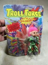 Vintage Troll Force Soldiers Jungle Fighter Troll Action Figure Doll NOS MIP