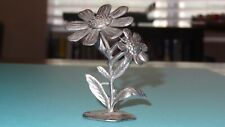 "Smurfs Pewter 3"" Flower Piece Vintage Very Rare Original Display Smurf Ornament"