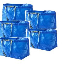 IKEA 5 x FRAKTA Large Blue Storage Laundry Bags - Free Postage
