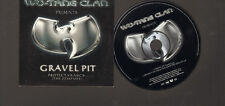 WU TANG CLAN GRAVEL PIT 2 track CD SINGLE Protect Ya Neck