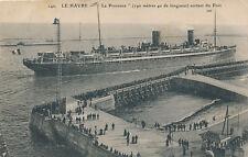 Shipping LE HAVRE La Provence leaving port 1910 PPC