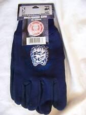 Uconn Huskies Work Gloves Adult Ncaa Blue New Garden Sport Mittens Osfm