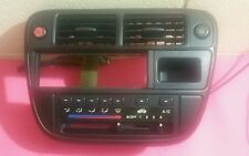 96-98 HONDA CIVIC BEZEL CLIMATE CONTROL AC A/C HEATER CENTER VENTS BLACK OEM
