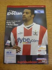 24/02/2007 Exeter City v Burton Albion  .  This item is supplied by Footy Progs,