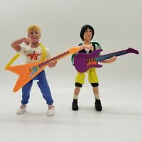 Vintage Bill and Ted's Excellent Adventure Action Figures 1991 Kenner Lot of 2