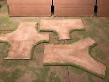 """28mm,5""""- 3"""" Intersection road sections,  3pc,  PAINTED"""