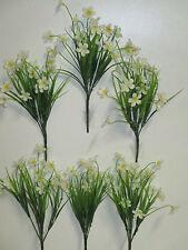 Dekoration 6 x künstliche Butterblume weiß Blumen Kunstblumen Floristik wie echt