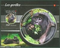 TOGO 2015 GORILLA  SOUVENIR SHEET  MINT NEVER HINGED