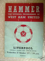 1971 WEST HAM UNITED v LIVERPOOL, 27th Oct (League Division One)