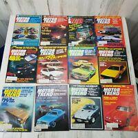Vintage 12 Motor Trend Magazines From 1978 Jan-Dec Trans Am Super Coupes AMC