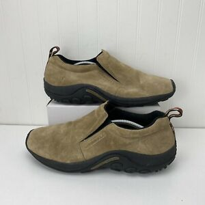 Merrell 60801 Jungle Moc Classic Taupe Comfort Suede Slip-On Shoes Men's Size 14