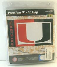 BSI 3' x 5' PREMIUM Flag University Of Miami Hurricanes NCAA New #95031
