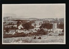 Somerset OLD CLEEVE General view with church c1910/20s? RP PPC by Bert Hole