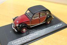 MINICHAMPS 400111500 Citroën 2CV Charleston 1980 Red/Black 1/43 #NEW