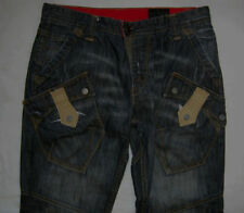 Faded High Rise Relaxed Jeans for Men