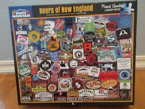 White Mountain 1000 Piece Puzzle (BEERS OF NEW ENGLAND)