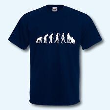 T-Shirt, Fun-Shirt, Evolution Dad, Papa, Vater, Kind, Familie, Spaziergang