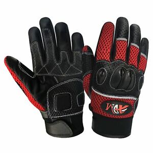 Prime Leather motorbike summer motorcycle racing Biker knucle protection gloves