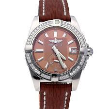 Breitling galaktisch Auto 36mm Stahl diamanten Damen Armbanduhr A3733053/q582