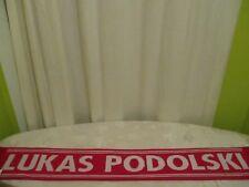 "FC Bayern München Original Spieler Namen Fan Schal ""Nr.11 Lukas Podolski"" Neu"