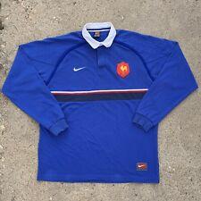 Vintage Nike Team FFR French Rugby Federation Longsleeve Shirt Size L/XL