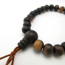 Black Persimmon Kaki Wood Bracelet Japanese Juzu Bracelet Prayer beads Zen Kyoto