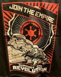 Join The Empire Support The Revolution T-Shirt L Large Star Wars New Black