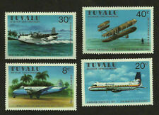 1978 TUVALU AVIATION PIONEER WRIGHT BROTHERS DH114 HERON HAWKER FLYING BO STAMPS