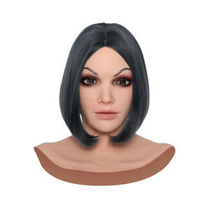 IMI Gorgeous Face Realistic Silicone Female Movie Props Crossdressers Halloween