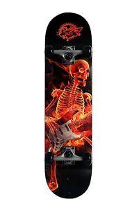 Skateboard Professionale Completo con Ruote Skull Music New