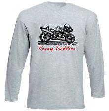 APRILIA RS 250 GP RACING P-Grigio T-shirt A Maniche Lunghe-Tutte le taglie in magazzino