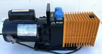 ALCATEL 2008A VACUUM PUMP W/ 1/2 HP MOTOR 110V LABORATORY INDUSTRIAL