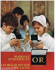 PUBLICITE ADVERTISING 105  1966  les BIJOUX en OR  pour communion
