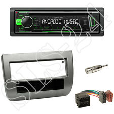 Kenwood KDC-110UG + Lancia Ypsilon 2003-11 1-DIN Blende anthrazit + ISO Adapter
