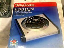 Betty Crocker Buffet Range BC-1951 Pre-Owned Single Burner 1000 Watt NIB