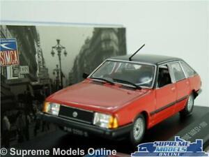 TALBOT ALPINE 1600 SX MODEL CAR 1980 1:43 SCALE RED IXO ALTAYA SOLARA K8