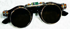 Halloween ~ Flip Up Sun Glasses ~ Retro Round Radical Resistance Revolution