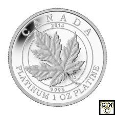 2014 Platinum 'Maple Leaf Forever' Proof $300 Platinum Coin *No Tax (13956)