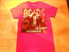 OFFICIAL AC/DC LIVE AT RIVER PLATE RED T-SHIRT SIZE: LARGE  *NEW**